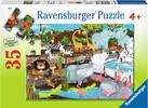 Ravensburger Casse-tête 35 journée au zoo 4005556087785