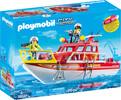Playmobil Playmobil 70147 Bateau de sauvetage et pompiers 4008789701473