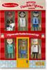 """Melissa & Doug Ensemble de figurines flexibles en bois carrières 4.5"""" (pompier, médecin, police, vétérinaire, travailleur de la construction, chef cuisinier) Melissa & Doug 2474 000772024747"""