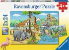 Ravensburger Casse-tête 24x2 Bienvenue au Zoo 4005556078066