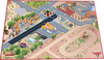 Paradiso Toys Tapis de jeu routes de ville les bagnoles 100x150cm 665720001159