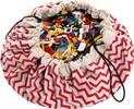 Play & Go Sac à jouets motif zig zag rouge 5901121400128