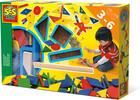 SES creative Jeu de Tap Tap original, créer un tabeau avec pièces de bois et carré de liège (fr/en) 8710341009410