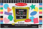 Melissa & Doug Bloc de papier de bricolage multicolore jumbo Melissa & Doug 4172 000772141727