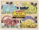 Melissa & Doug Casse-tête 4x4 dinosaures en bois Melissa & Doug 9365 000772093651