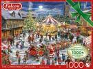 Falcon de luxe Casse-tête 1000x2 Le Caroussel de Noël 8710126113080