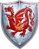 Liontouch Costume chevalier dragon ambre bouclier en mousse EVA Liontouch 29301 5707307293016