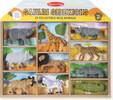 Melissa & Doug Animaux safari, ensemble de 10 (éléphant, buffle d'Afrique, guépard, girafe, gnou, rhinocéros, crocodile, hippopotame, zèbre, lion) Melissa & Doug 593 000772005937