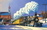 SunsOut Casse-tête 1000 Arrivée au village du train à vapeur l'hiver (Winter Arrival) SunsOut 69942 796780699427