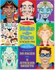 Melissa & Doug Bloc d'autocollants créer des visages étranges Melissa & Doug 4237 000772142373
