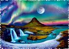 Trefl Casse-tête 600 Silhouette - Aurore Boréale En Islande 5900511111149