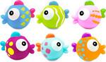 Escabbo Arroseurs de bain 6 poissons tropicaux en tube 701233003522