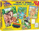 """Dimensions PaintWorks Dessin à numéros amis des animaux, ensemble de 4, 9x12"""" 91274"""
